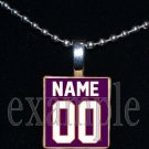 TIGERS PERSONALIZED JERSEY Orange & Purple Mascot Team School Pendant Necklace or Keychain