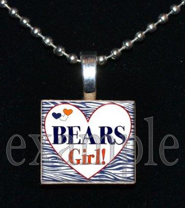 BEARS GIRL Team Mascot Pendantor Keychain Choices