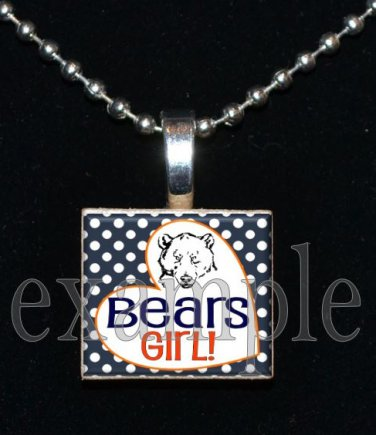 BEARS Girl Team Mascot Pendant Necklace or KeychainChoices