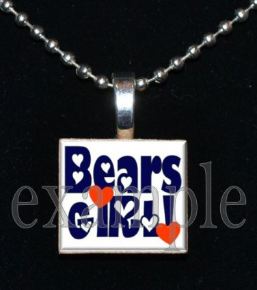 BEARS GIRL Team Mascot Pendant Necklace or Keychain Choices