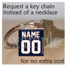 BEARS Navy Orange White Team Mascot Keychain
