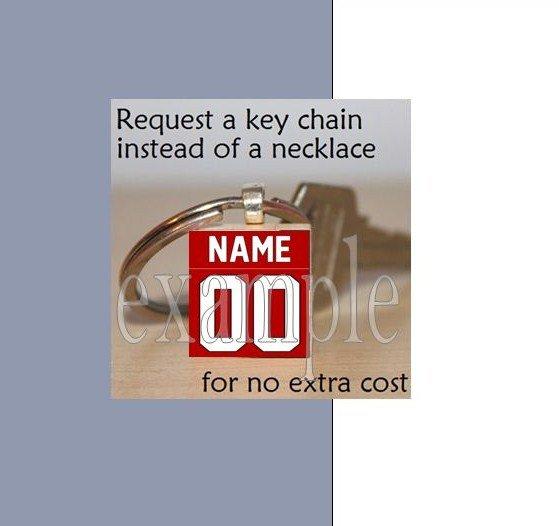 BULLDOGS ANY IMAGE Black & Red Team Mascot Keychain