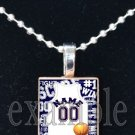 BRONCOS BASKETBALL PERSONALIZED JERSEY Navy, White & Orange Team Mascot Pendant Charm Necklace