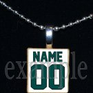 EAGLES Green, Black & Silver Team PERSONALIZED JERSEY Mascot Pendant Necklace Charm or Keychain