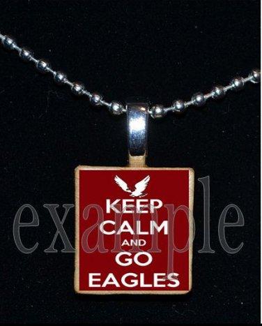 KEEP CALM NICEVILLE HIGH SCHOOL EAGLES School Team Mascot Pendant Necklace Charm or Keychain