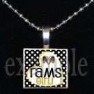 RUCKEL RAMS GIRL Team Mascot Pendant Charm or Keychain