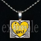 RUCKEL RAMS GIRL Team Mascot Pendant Necklace or Keychain