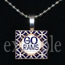GO RAMS Blue, Gold & White Team Mascot Pendant Choices