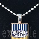 RAMS Blue, Gold & White Team Mascot Pendant Choices