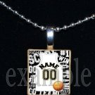 Personalized Custom Name Team BASKETBALL Jersey Scrabble Necklace Charm OR Keychain