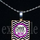 Cheer Cheerleader MOM Personalized Scrabble Necklace Pendant Charm Key-chain GiFt