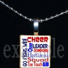 Cheer Cheerleader SUBWAY ART Scrabble Necklace Pendant Charm or Key-chain