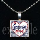 Cheer Cheerleader MOM Scrabble Necklace Pendant Charm or Key-chain