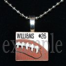 Personalized Custom Name Team FOOTBALL Scrabble Tile Necklace Charm Keychain