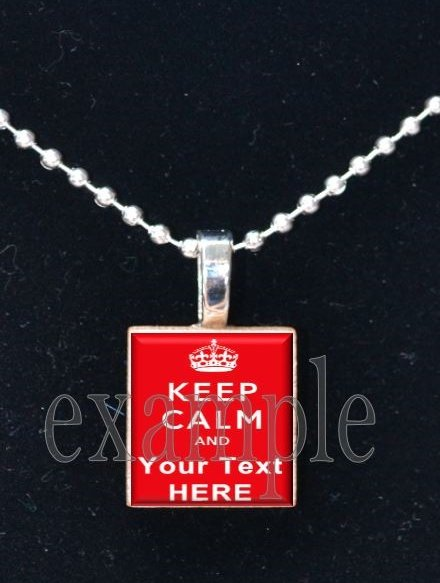 """Keep Calm and __ On """"U Pick ANY"""" Scrabble Tile Pendant Necklace Charm Key-chain"""