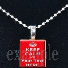 "Keep Calm and __ On ""U Pick ANY"" Scrabble Tile Pendant Necklace Charm Key-chain"