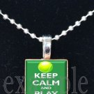 Keep Calm and Play Tennis Scrabble Tile Pendant Necklace Charm Key-chain
