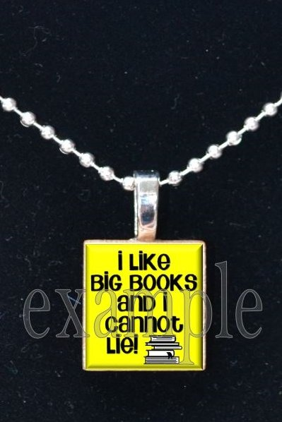 BOOK CLUB Reading Wine Drinking Scrabble Tile Pendant Necklace Charm Key-chain