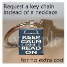 BOOK CLUB Reading Wine Drinking Scrabble Tile Key-chain
