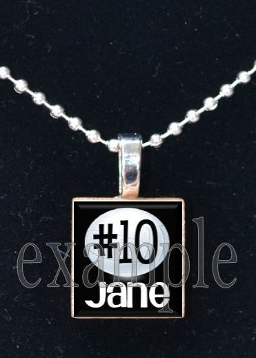 Personalized Custom Name Team VOLLEYBALL Scrabble Tile Necklace Charm Key-chain