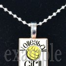 VOLLEYBALL GIRL Scrabble Tile Pendant Necklace Charm or Key-chain