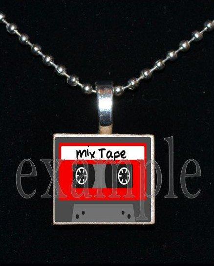 MIX TAPE Nerd Geek Smart Math Science Scrabble Necklace Pendant Charm Key-chain Gift