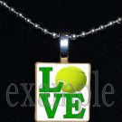 LOVE TENNIS Scrabble Necklace Pendant Charm or Key-chain Gift