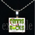 TENNIS ROCKS Scrabble Necklace Pendant Charm or Key-chain Gift