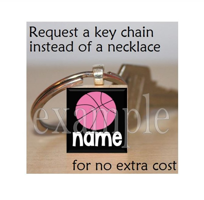 PERSONALIZED BASKETBALL Scrabble Key-chain