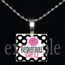 BASKETBALL GIRL Scrabble Necklace Pendant Charm or Key-chain