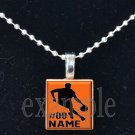 BASKETBALL Personalized NAME Team Jersey Scrabble Necklace Pendant Charm Key-chain
