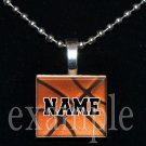 BASKETBALL Personalized Team NAME Scrabble Necklace Pendant Charm Key-chain
