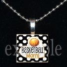 BASKETBALL MOM Scrabble Necklace Pendant Charm or Key-chain