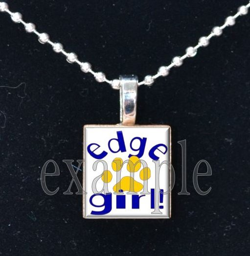 LULA J EDGE GIRL TIGERS School Team Mascot Pendant Necklace Charm or Keychain