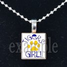 LULA J EDGE TIGERS GIRL School Team Mascot Pendant Necklace Charm or Keychain