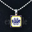 LULA J EDGE TIGERS School Team Mascot Pendant Necklace Charm or Keychain