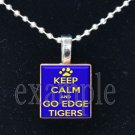 LULA J EDGE TIGERS KEEP CALM School Team Mascot Pendant Necklace Charm or Keychain