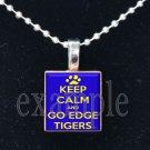 LULA J EDGE TIGERS KEEP CALM School Team Mascot Pendant Necklace Charm or Keychain