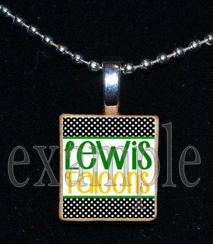 ADDIE R LEWIS FALCONSSchool Team Mascot Pendant Necklace Charm or Keychain