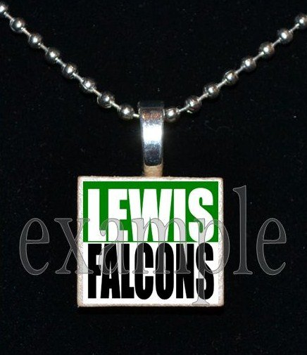 ADDIE R LEWIS FALCONS School Team Mascot Pendant Necklace Charm or Keychain