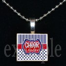 Cheer CheerLEADER Scrabble Necklace Pendant Charm or Key-chain