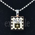 ARMY WIFE »-(¯`v´¯)-» MILITARY Scrabble Tile Pendant Necklace Charm or Keychain