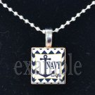 NAVY WIFE »-(¯`v´¯)-» MILITARY Scrabble Tile Pendant Necklace Charm or Keychain