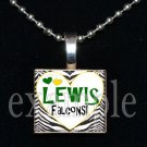 LEWIS FALCONS School Team Mascot Pendant Necklace Charm or Keychain