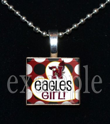 NICEVILLE HS EAGLES GIRL School Team Mascot Pendant Necklace Charm or Keychain