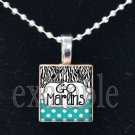 DESTIN MIDDLE SCHOOL GO MARLINS School Team Mascot Pendant Necklace Charm or Keychain