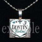 DESTIN MIDDLE SCHOOL MARLINS School Team Mascot Pendant Necklace Charm or Keychain