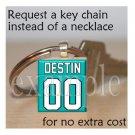 DESTIN MIDDLE SCHOOL MARLINS ANY DESIGN School Team Mascot Keychain
