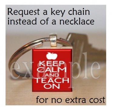 School Teacher Scrabble Key-chain ~ Great Gift!