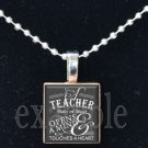School Teacher Scrabble Necklace Pendant Charm or Key-chain Great Gift